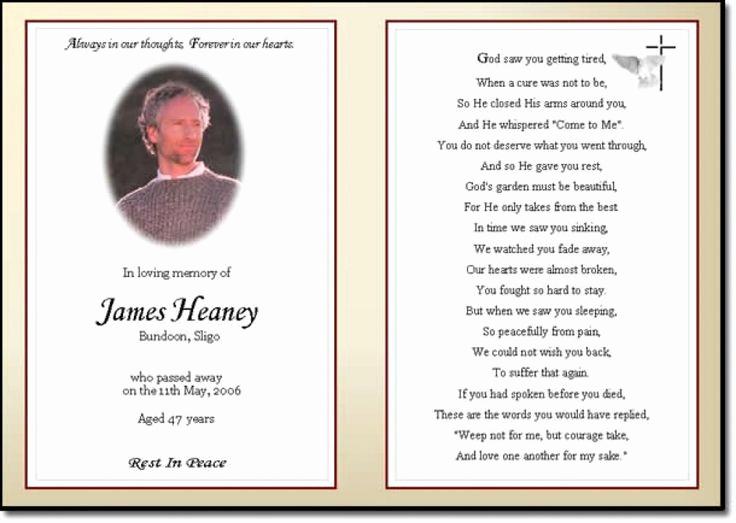Free Memorial Card Template New Best 25 Funeral Prayers Ideas On Pinterest