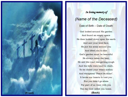 Free Memorial Card Template Unique Free Templates for Remembrance Cards Music Search Engine