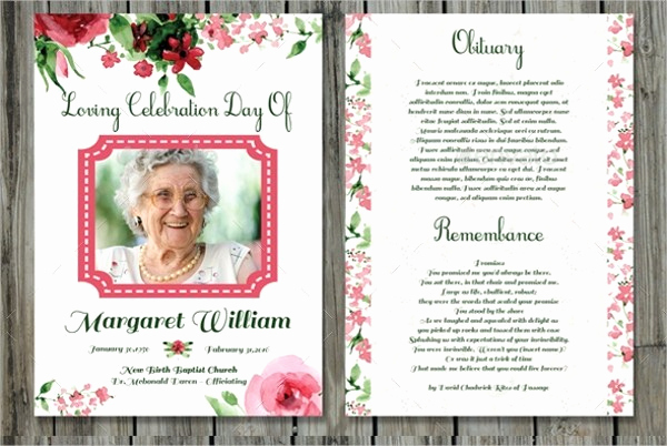 Free Memorial Card Template Unique Funeral Prayer Cards Templates Free Download Aashe