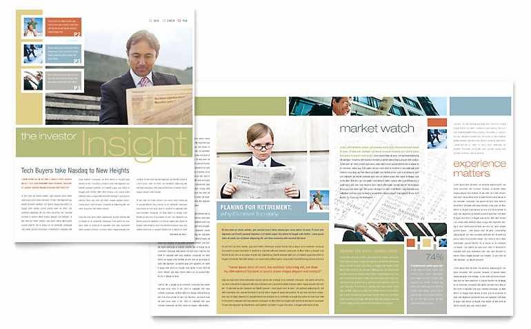 Free Microsoft Publisher Templates Awesome Investment Advisor Newsletter Template Word & Publisher