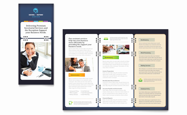 Free Microsoft Publisher Templates New Secretarial Services Tri Fold Brochure Template Word