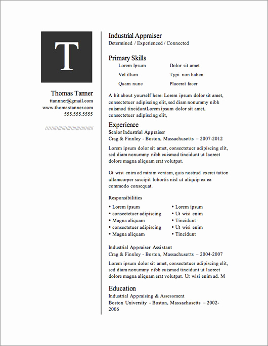 Free Microsoft Word Resume Templates Beautiful 12 Resume Templates for Microsoft Word Free Download