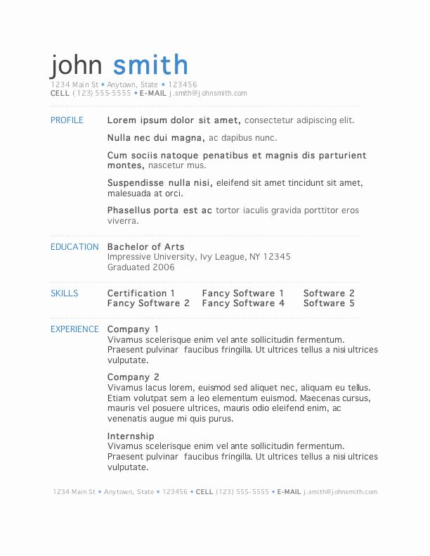 Free Microsoft Word Resume Templates Beautiful 50 Free Microsoft Word Resume Templates for Download