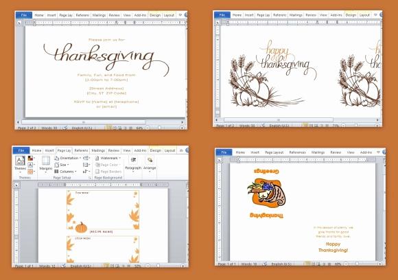 Free Microsoft Word Templates Beautiful Best Thanksgiving Templates for Microsoft Word