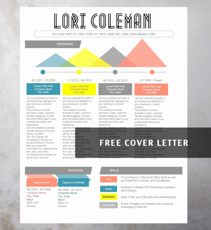 Free Microsoft Word Templates Lovely Creative Resume Template From original Résumé Design