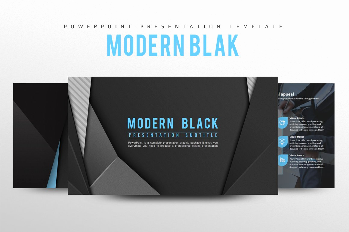 Free Modern Powerpoint Templates Lovely Modern Black Powerpoint Template Powerpoint Templates