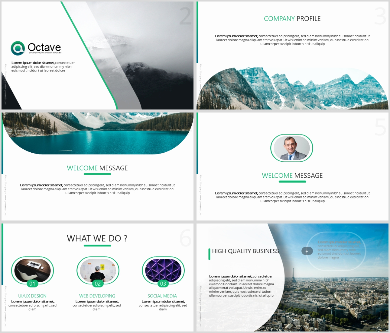 Free Modern Powerpoint Templates Unique Octave Free Powerpoint Presentation Template Just Free