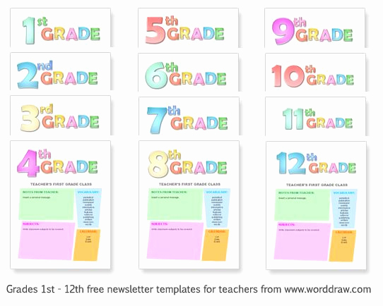 Free Newsletter Templates for Teachers Best Of Grades 1 12 Free Templates for Teachers to Make Classroom