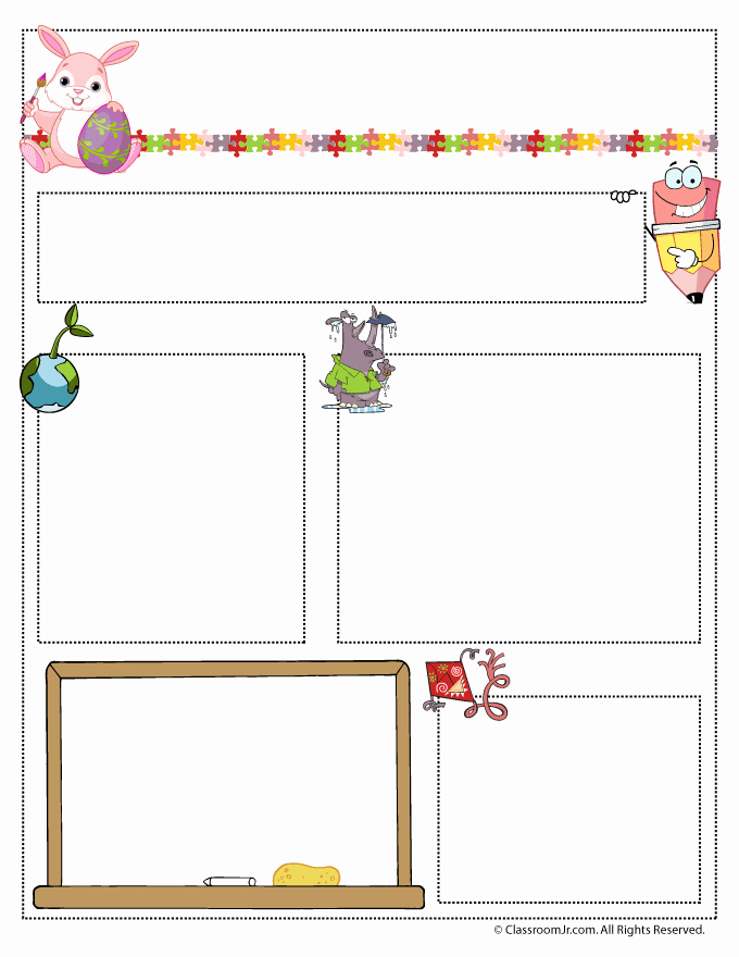 Free Newsletter Templates for Teachers Fresh April Teacher Newsletter Template Woo Jr Kids Activities