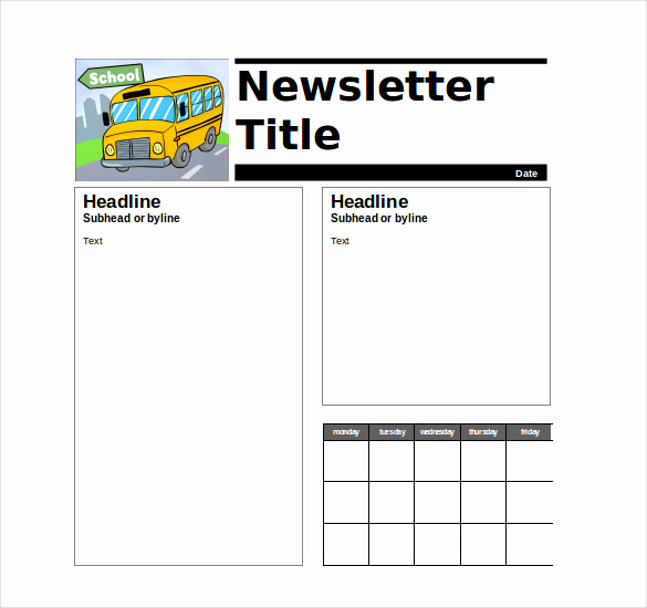 Free Newsletter Templates for Teachers New 9 Teacher Newsletter Templates – Free Sample Example