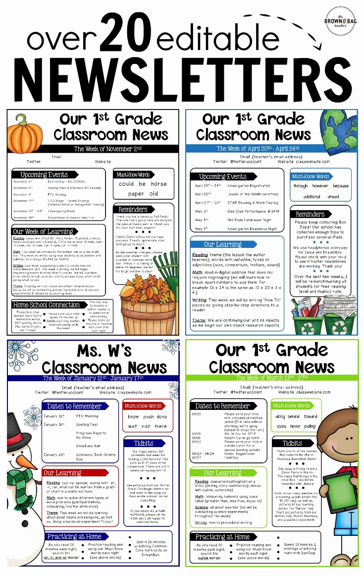 Free Newsletter Templates for Teachers New Best 25 Teacher Newsletter Ideas On Pinterest