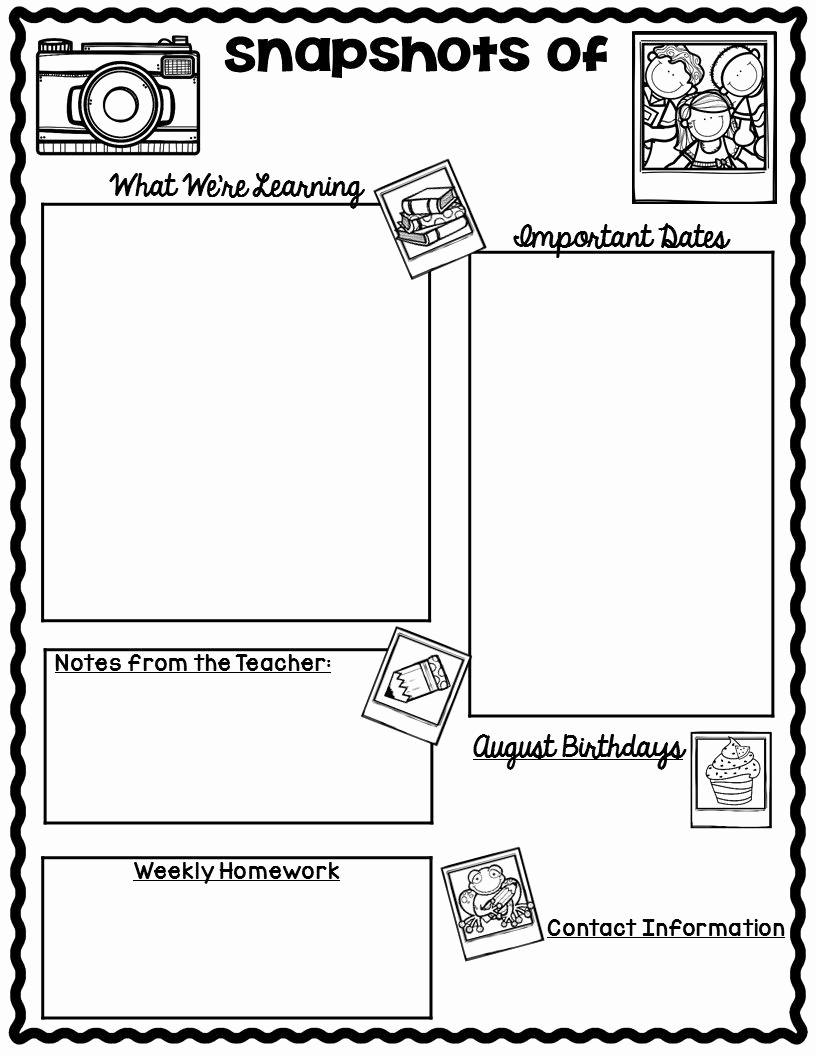 Free Newsletter Templates for Teachers New the Teaching Oasis Monthly Calendars and Newsletter