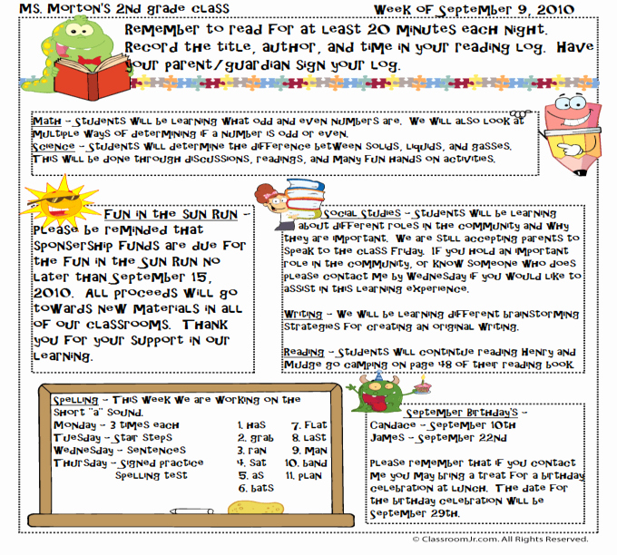 Free Newsletter Templates for Teachers Unique Free Teacher Newsletter Templates Downloads