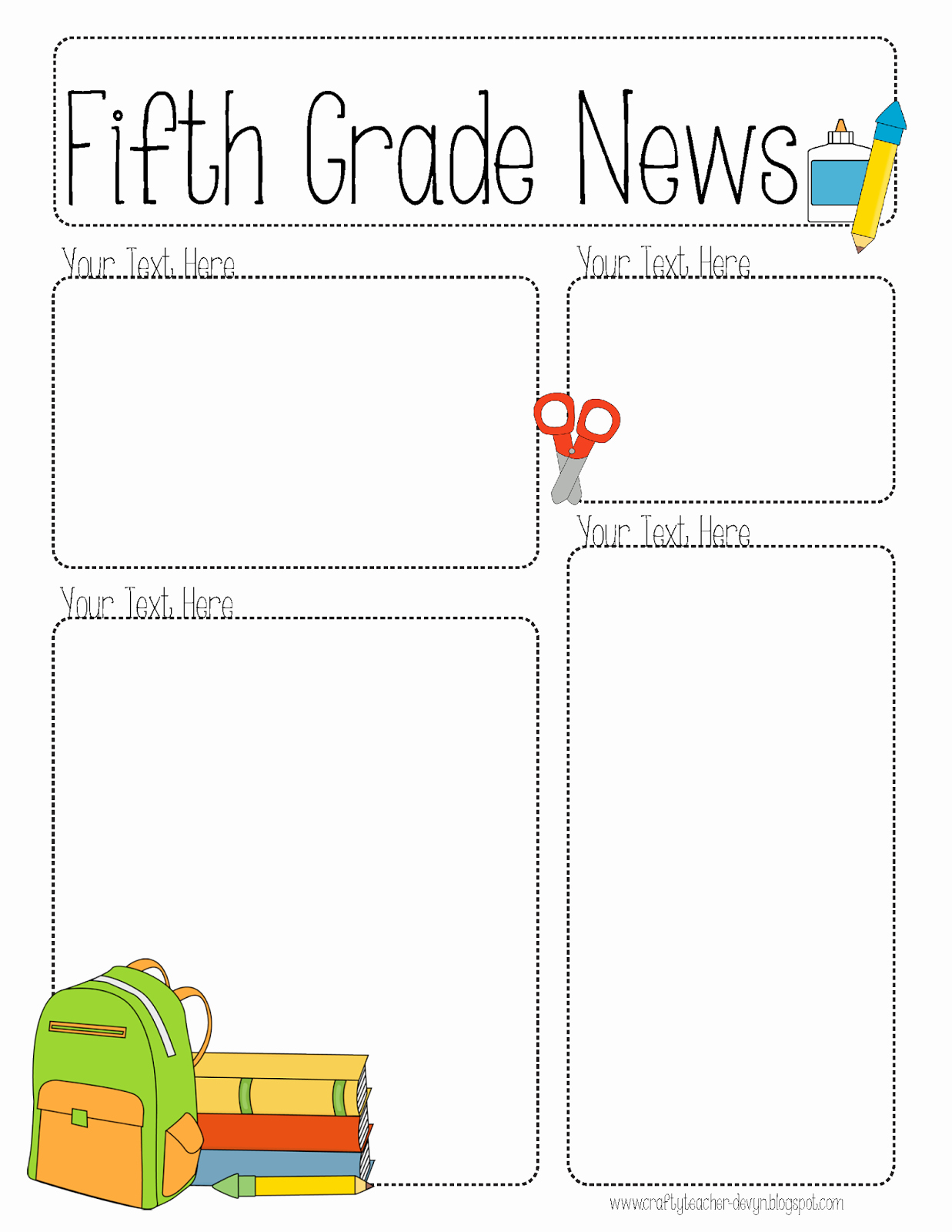 Free Newsletter Templates for Teachers Unique Pletely Editable Newsletter for All Grades