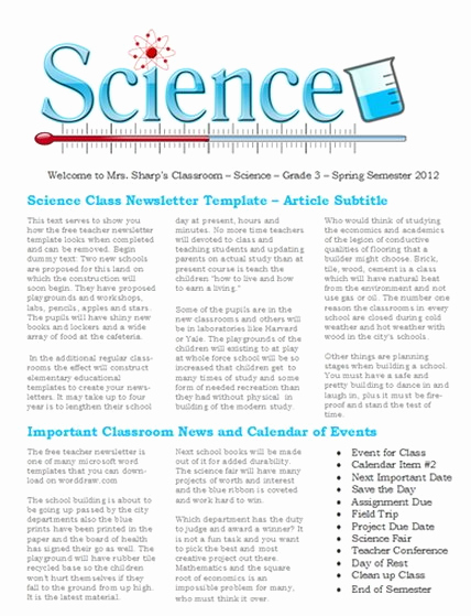 Free Newsletter Templates Word Beautiful 15 Free Microsoft Word Newsletter Templates for Teachers