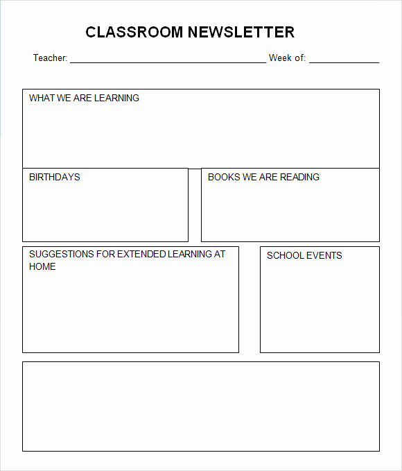 Free Newsletter Templates Word Best Of Classroom Newsletter Template 7 Free Download for Pdf Word