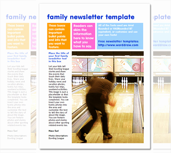 Free Newsletter Templates Word Fresh 7 Family Newsletter Templates – Free Word Documents