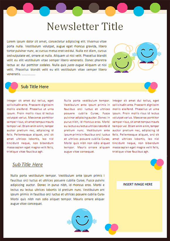 Free Newsletter Templates Word Fresh Kaymbu Blog – Insights for Effective School Home