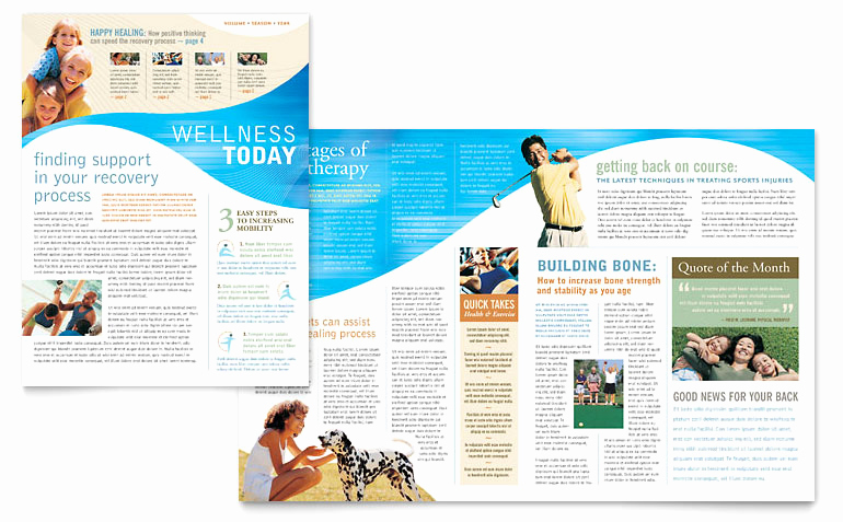 Free Newsletter Templates Word Fresh Physical therapist Newsletter Template Word & Publisher