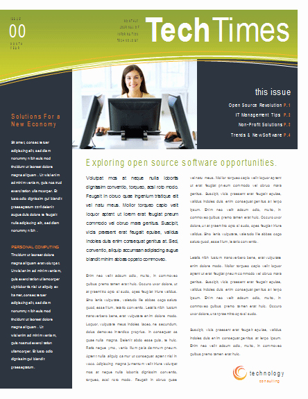 Free Newsletter Templates Word Inspirational Eco Business Newsletter Template
