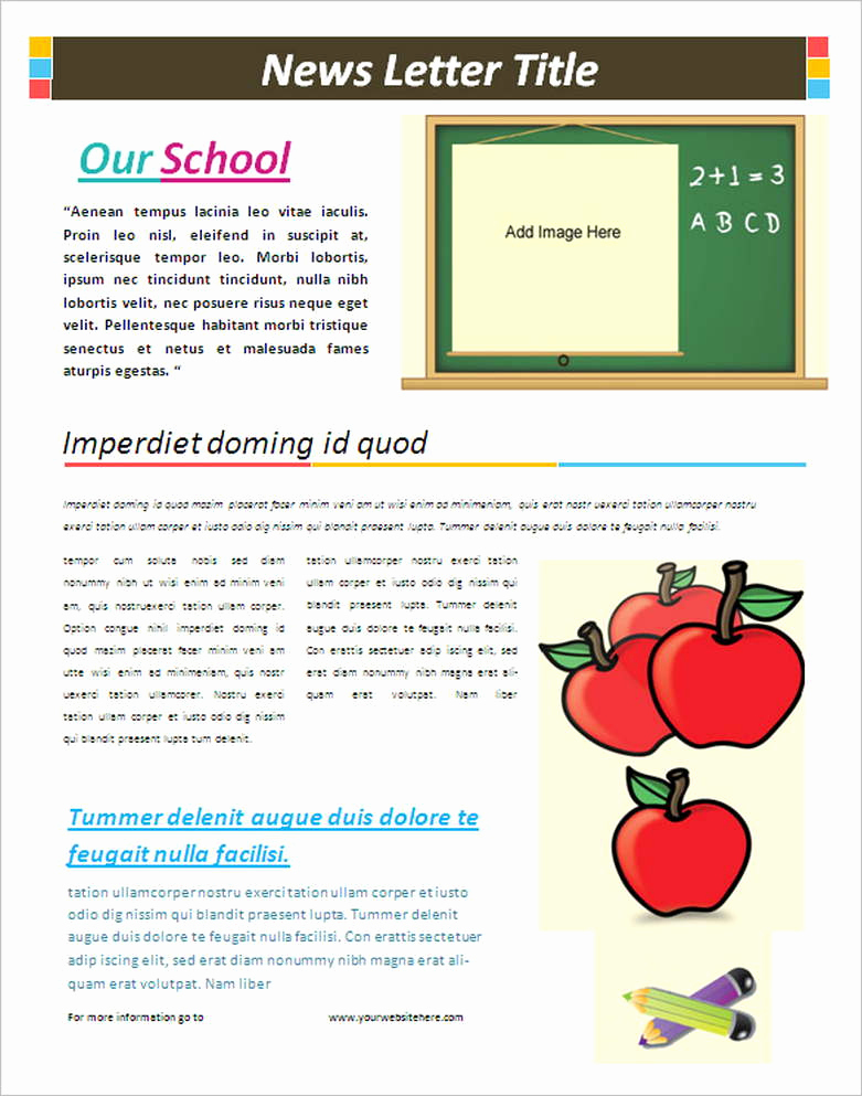 Free Newsletter Templates Word Inspirational School Newsletter Templates