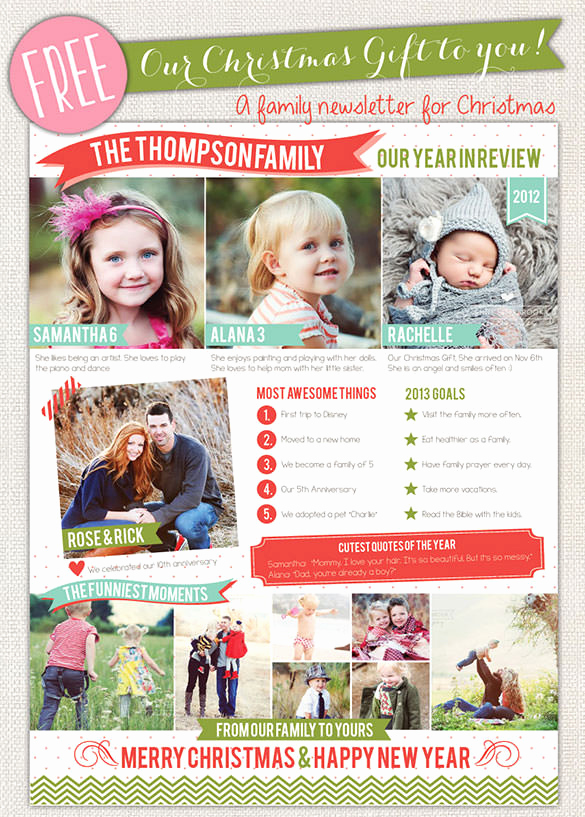 Free Newsletter Templates Word New 27 Christmas Newsletter Templates Free Psd Eps Ai