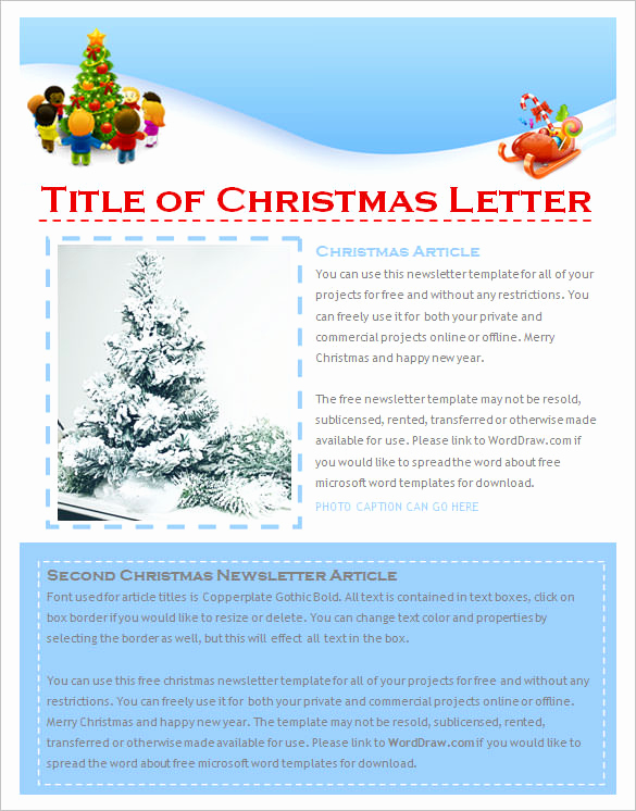 Free Newsletter Templates Word Unique 27 Christmas Newsletter Templates Free Psd Eps Ai
