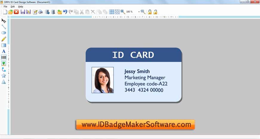 Free Online Id Card Maker Beautiful Id Badge Maker software Full Windows 7 Screenshot