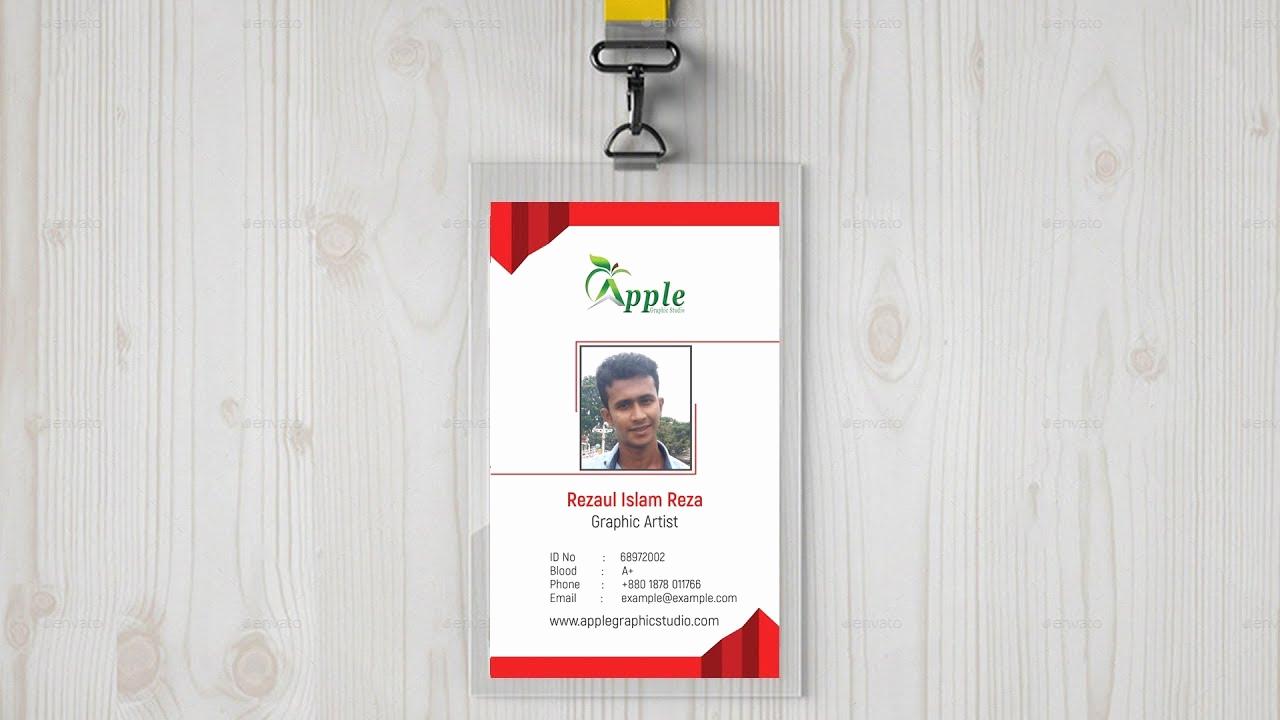 Free Online Id Card Maker Elegant Pany Id Card Design