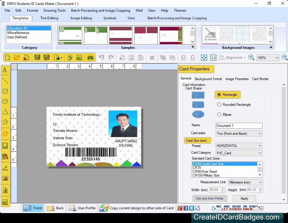 Free Online Id Card Maker Elegant Student Id Cards Maker System Business Fice Suites