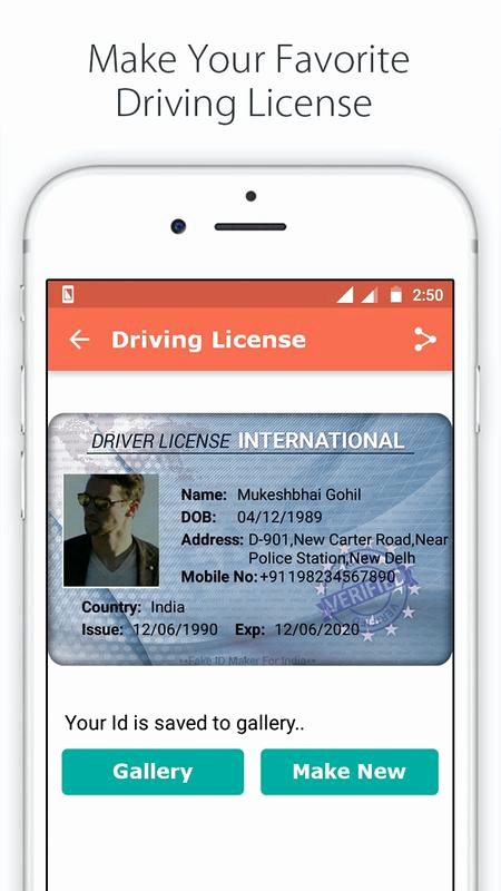 Free Online Id Card Maker Lovely Fake Id Card Maker for India Apk Download Free