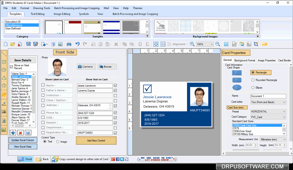 Free Online Id Card Maker Luxury Free Download Student Id Card software Neonsoftware