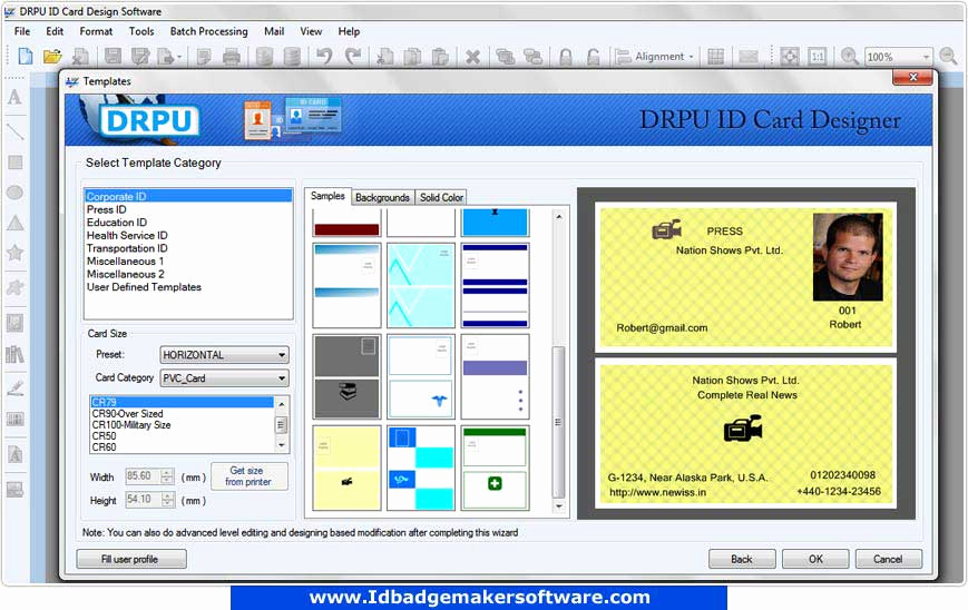 Free Online Id Card Maker New Download Id Cards Maker software Free Business Fice