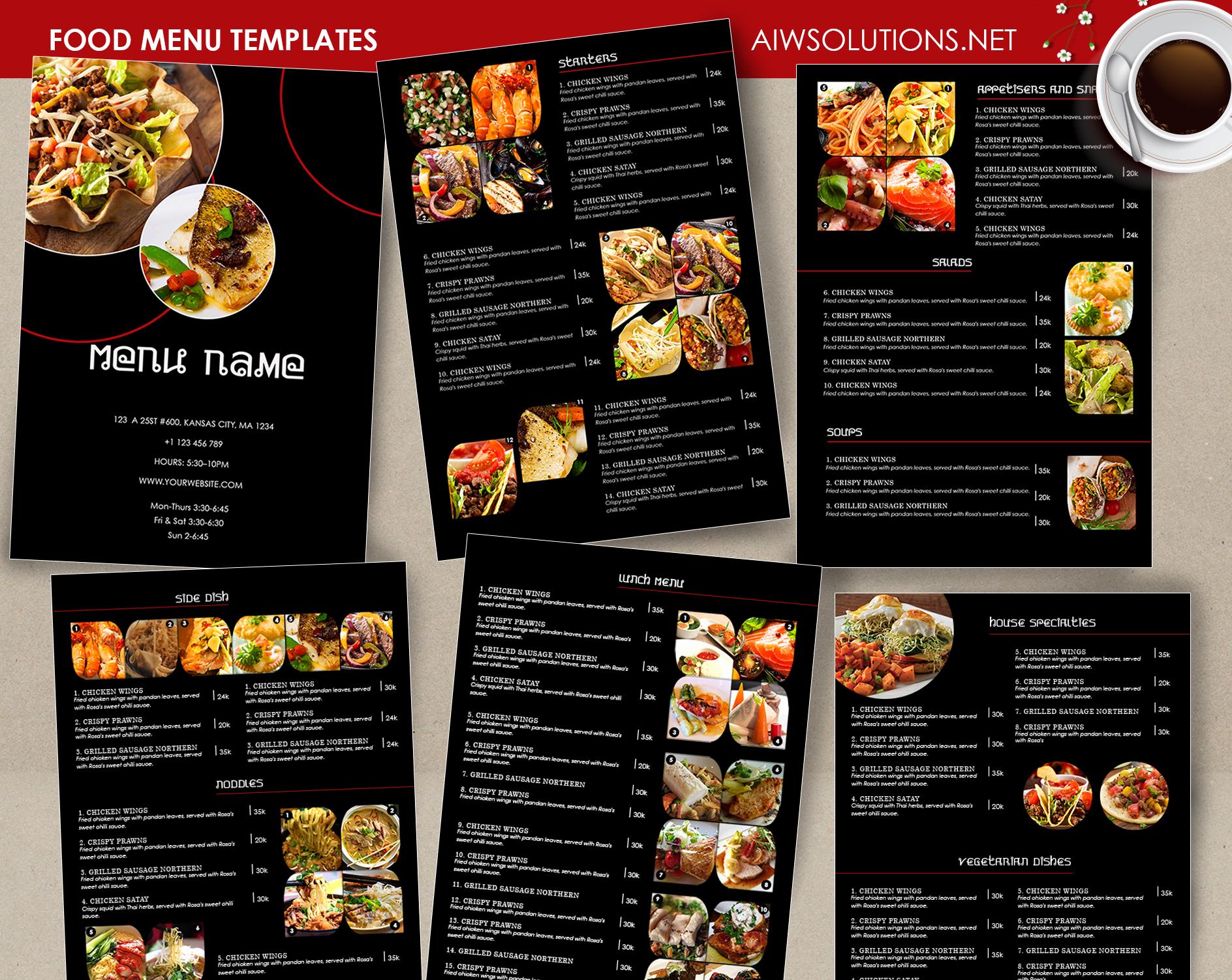 Free Online Menu Templates Best Of Design & Templates Menu Templates Wedding Menu Food