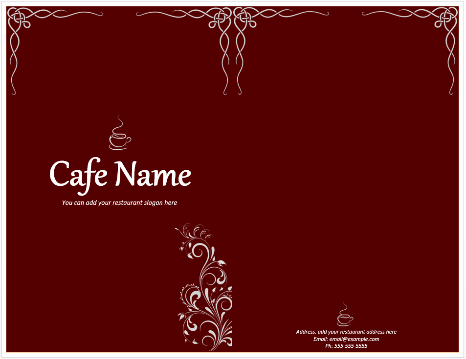 Free Online Menu Templates Lovely Cafe Menu Template Free Template Downloads