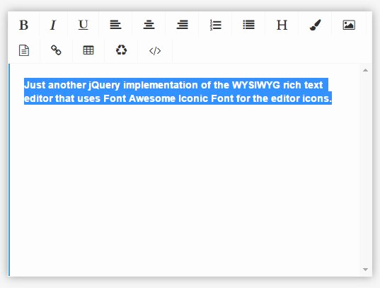 Free Online Text Editor New Minimal Rich Text Editor with Jquery and Fontawesome