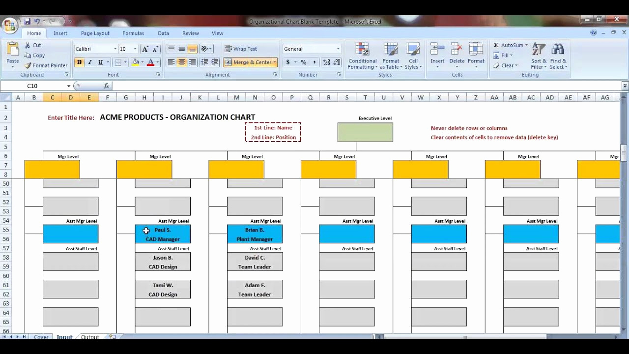 Free org Chart Template Beautiful Excel organization Chart Template Demonstration