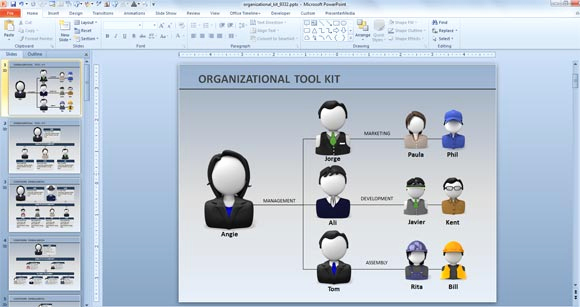 Free org Chart Template Elegant Creative organization Chart Ideas for Presentations