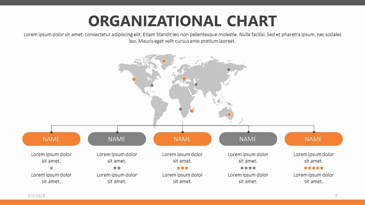 Free org Chart Template Fresh Free organizational Chart Templates for Powerpoint