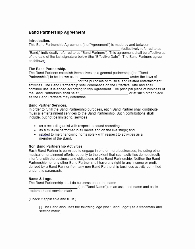 Free Partnership Agreement Template Beautiful 40 Free Partnership Agreement Templates Business General