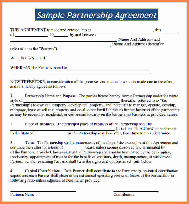 Free Partnership Agreement Template Beautiful 8 Partnership Agreement Template south Africa