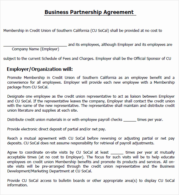 Free Partnership Agreement Template New Partnership Agreement Templates and Tips Business