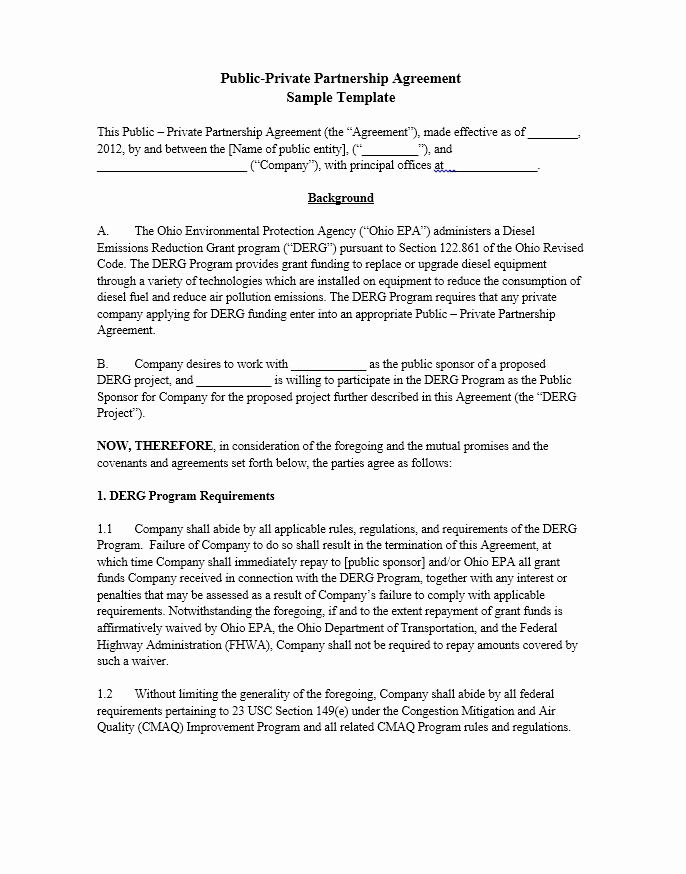 Free Partnership Agreement Template Unique 40 Free Partnership Agreement Templates Business General