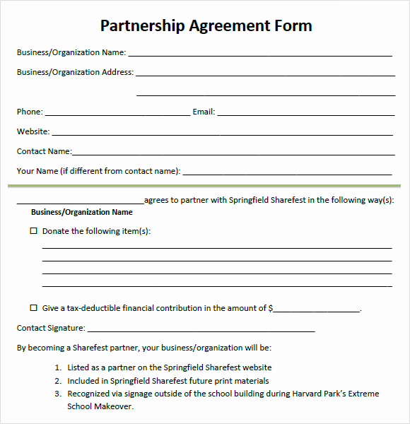 Free Partnership Agreement Template Unique 8 Sample Partnership Agreements