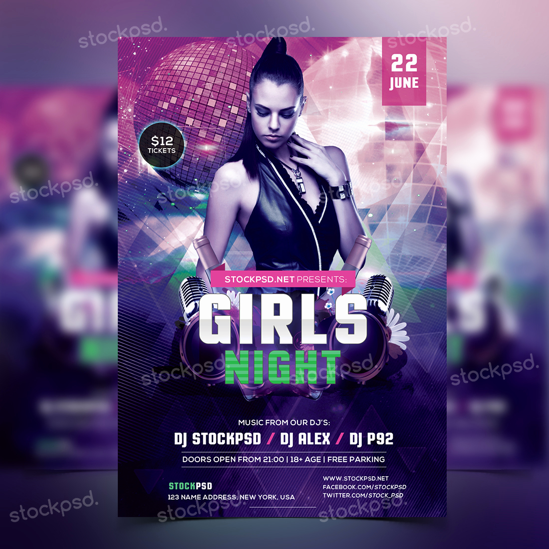Free Party Flyer Templates Awesome Girls Night Party Free Psd Flyer Template Free Psd