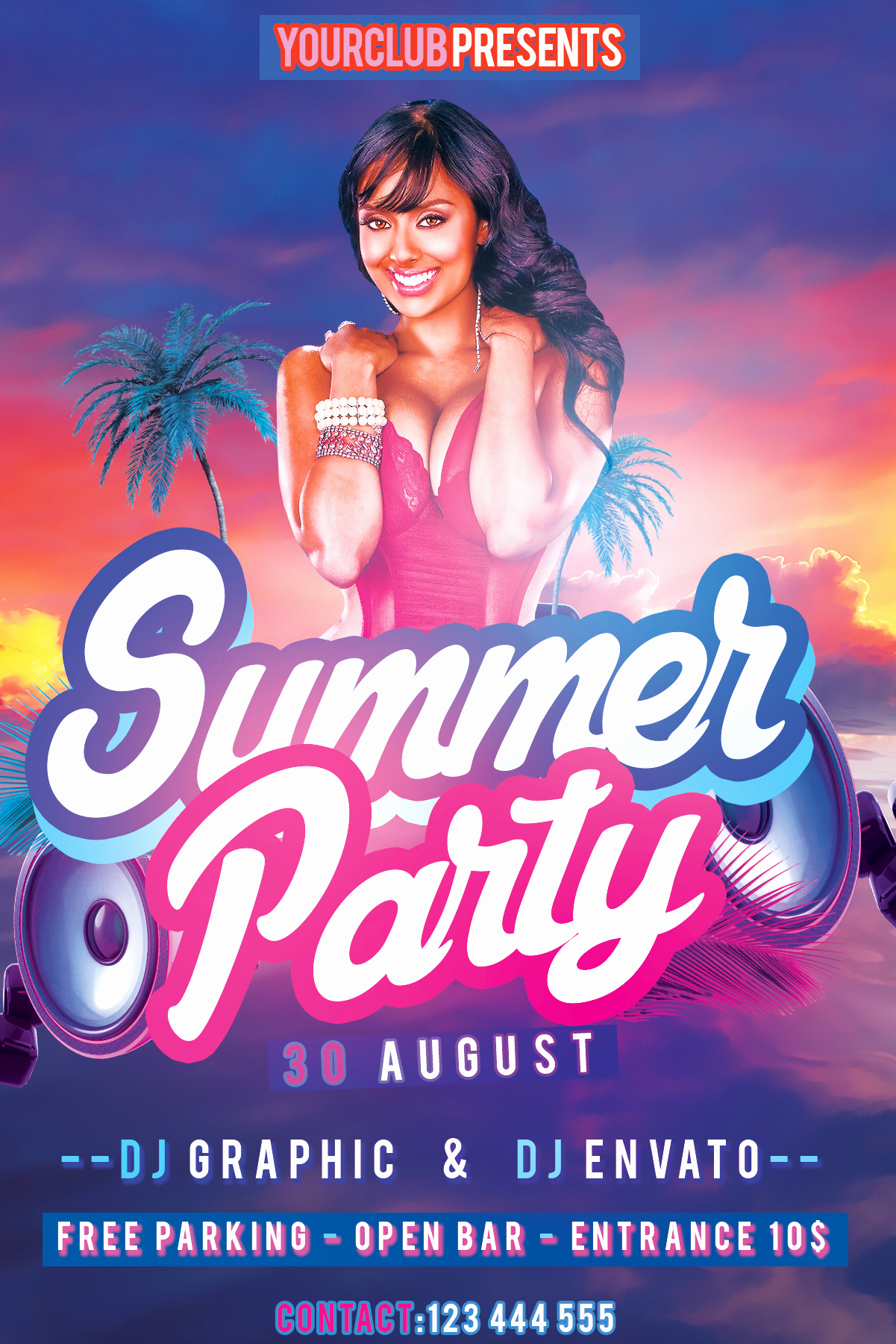 Free Party Flyer Templates Awesome Summer Party Flyer Free Psd Template by Klarensm On Deviantart