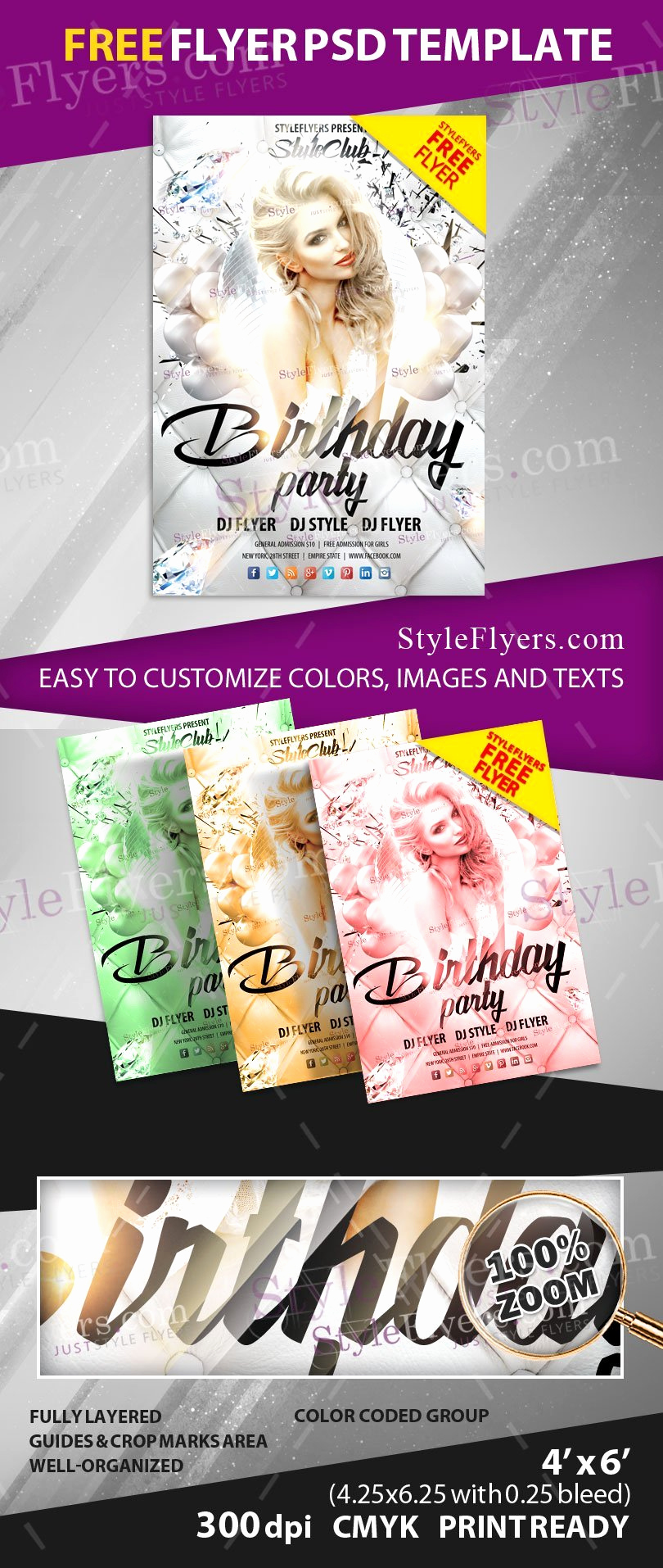 Free Party Flyer Templates Fresh Birthday Party Free Psd Flyer Template Free Download