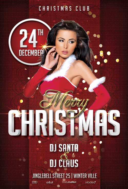 Free Party Flyer Templates Fresh Merry Christmas Free Party Flyer Template Download for