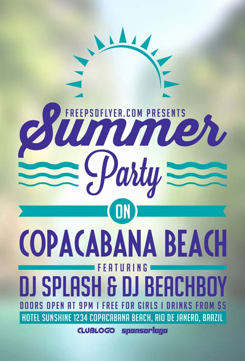 Free Party Flyer Templates Lovely Freepsdflyer