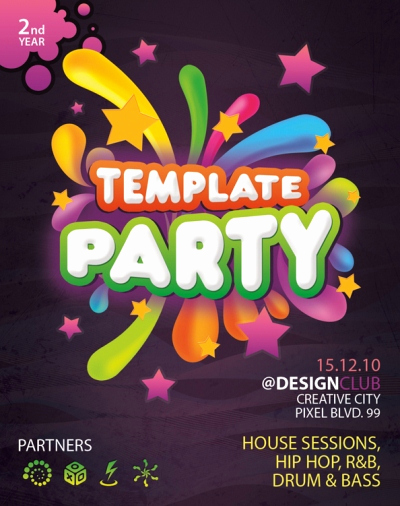 Free Party Flyer Templates Luxury Party Flyer Designs Free Printable Templates Set 1